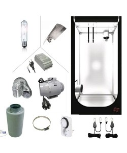 KIT COMPLETO - BOX 100X100X200 - HPS 400W AGRO - ASP Ø100 - FILTRO AI CARBONI PER COLTIVAZIONE INDOOR GROW SHOP