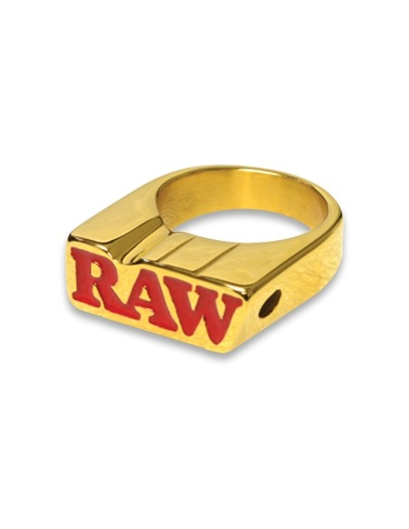 Raw Smokers Ring - Anello Placcato Oro 24k - Porta Joint - Misura 12